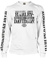 Harley-Davidson Men's Distressed Freedom Fighter Long Sleeve Shirt, (L)