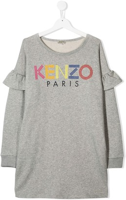Kenzo TEEN logo sweater dress