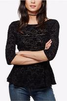 Free People Lace Peplum Top