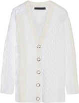 Alexander Wang Cable-knit Wool-blend Cardigan - Ivory