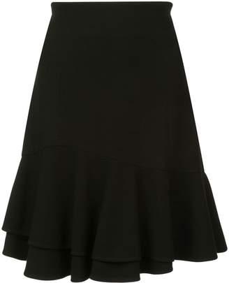 Josie Natori ruffle hem mini skirt