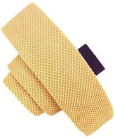 Elviros Mens Eco-friendly Handmade Solid Knit Silk Skinny Tie 2'' ( 5cm )