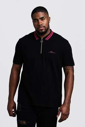 Big & Tall MAN Pique Polo With Stripe Collar
