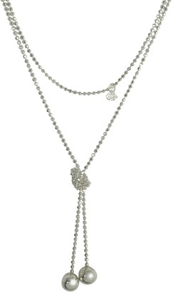 Rosato Sterling Silver Beads Self-Tie Necklace