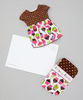 Dollie & Me Pink Cupcake Doll Dress & Birthday Cupcake Greeting Card - Girls