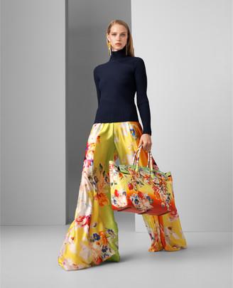 Ralph Lauren Kyrah Floral Silk Palazzo Pant