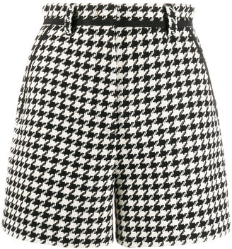 MSGM Houndstooth Pattern Shorts