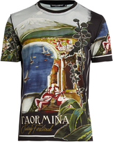 Dolce & Gabbana Taormina-print cotton T-shirt