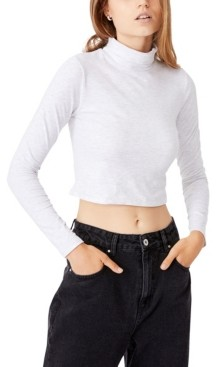 Cotton On Women's Everyday Chop Mock Neck Long Sleeve Top