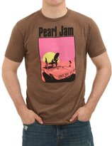 Ames Bros Clothing & Design mens Heather Brown Pearl Jam San Diego T-Shirt Medium