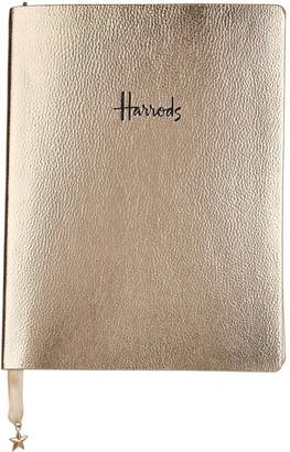 Harrods Faux Leather Logo Notebook