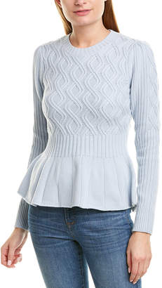 La Vie Rebecca Taylor Spiral Cable Wool-Blend Pullover