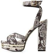 Charlotte Russe Bamboo Faux Snakeskin Platform Sandals