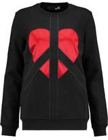 Love Moschino Satin-Paneled Cotton-Jersey Sweatshirt