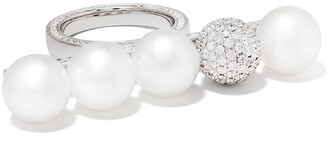 TASAKI 18kt white gold Balance Signature Decade South Sea pearls and diamond ring