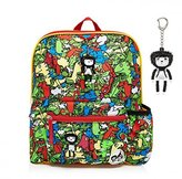 Babymel Kids Backpack Rucksack With Keyring - Multi Dino Design - Suitable From 3 Years Plus by