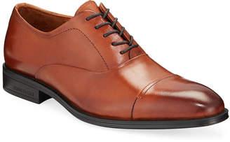 Kenneth Cole Men's Leather Cap-Toe Oxford Dress Shoes