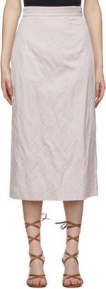Brock Collection Purple Rabbit Crinkle Skirt