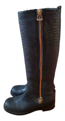 Jimmy Choo Anthracite Leather Boots