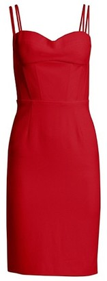 Gustavo Cadile Strappy Sweetheart Sheath Dress