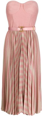 Elisabetta Franchi strapless pleated dress