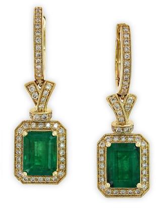 Effy Fine Jewelry 14K 3.32 Ct. Tw. Diamond & Emerald Earrings