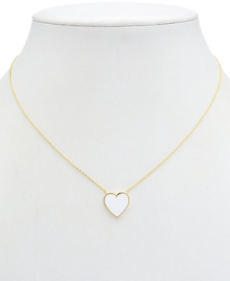 Alanna Bess Limited Collection 14K Over Silver Medium Heart Necklace