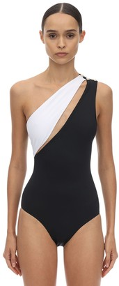 Balmain Lycra One Shoulder One Piece Swimsuit