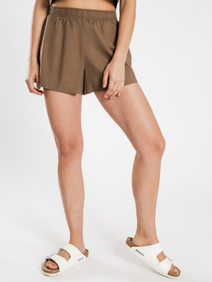 Nude Lucy Darcy Linen Shorts in Chocolate