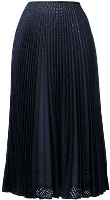 Fendi perforated pleated skirt