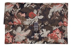 La Regale Floral Jacquard Envelope with Turn Lock Closure