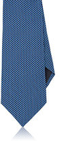 Ermenegildo Zegna Men's Geometric-Pattern Silk Necktie