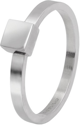 Edge Only Square Stacking Ring Silver