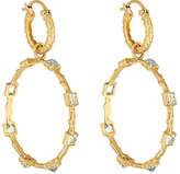 Cathy Waterman Women's Aquamarine Double-Drop Hoop Earrings