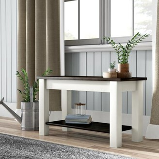 """Gracie Oaks Su Wood Storage Bench Size: 17"""" H x 24"""" W x 12"""" D"""