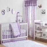 The Peanut Shell Rose Crib Bedding Collection in Purple