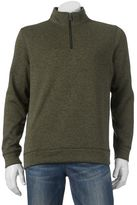 Croft & Barrow Big & Tall Marled Quarter-Zip Sweater Fleece