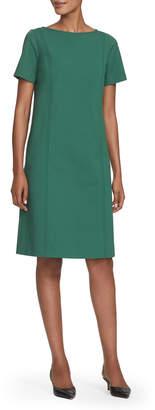 Lafayette 148 New York Easton Short-Sleeve Button-Back Shift Dress