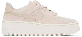 Nike Beige Air Force 1 Sage Sneakers