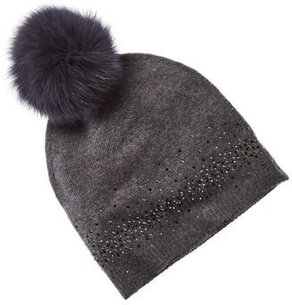 Sofia Cashmere Sofiacashmere Embellished Cashmere Slouchy Hat