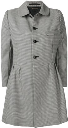 Comme des Garcons Pre Owned houndstooth check coat