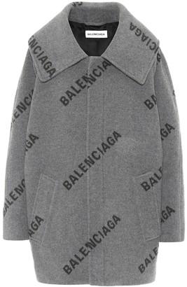 Balenciaga Logo cashmere coat
