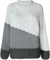 Le Tricot Perugia colour block jumper