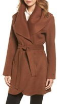 Tahari Women's Marla Double Face Wool Blend Wrap Coat