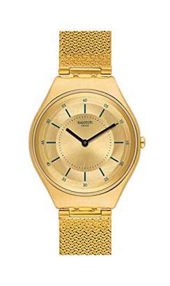 Swatch Unisex Adult Analogue Quartz Watch with Stainless Steel Strap SYXG102M