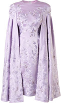 Divina embroidered cape dress