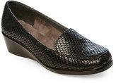 Aerosoles Black Embossed Final Exam Flex Wedge Shoes