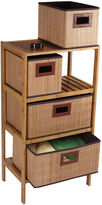 MANOR LANE Household Essentials Bamboo 4-Drawer Storage Chest