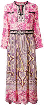 Etro embroidered piasley kaftan dress - women - Viscose/glass - 42