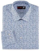 Jf J.Ferrar Long Sleeve Broadcloth Pattern Dress Shirt